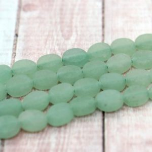 Shop Aventurine Bead Shapes! Natural Aventurine, Matte Aventurine Beads Frosted Flat Rectangle Oval Loose Gemstone Beads – PG111-117 | Natural genuine other-shape Aventurine beads for beading and jewelry making.  #jewelry #beads #beadedjewelry #diyjewelry #jewelrymaking #beadstore #beading #affiliate #ad