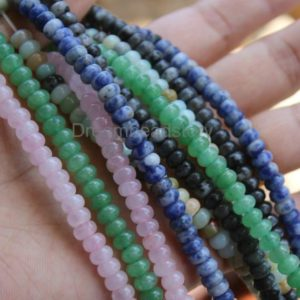 Shop Aventurine Beads! Natural Rondelle Beads for Jewelry Making, Genuine Amazonite/ Blue Spot/ Rose Quartz/ Flash Stone/ Aventurine 4*6mm Beads | Natural genuine beads Aventurine beads for beading and jewelry making.  #jewelry #beads #beadedjewelry #diyjewelry #jewelrymaking #beadstore #beading #affiliate #ad