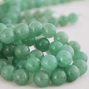 "Shop Aventurine Beads! High Quality Grade A Natural Green Aventurine Semi-precious Gemstone Round Beads – 4mm, 6mm, 8mm, 10mm sizes – Approx 15.5"" strand 