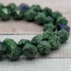 Shop Azurite Faceted Beads! Azurite Round Faceted Natural Loose Gemstone Beads Full Strand (8mm, 10mm) | Natural genuine faceted Azurite beads for beading and jewelry making.  #jewelry #beads #beadedjewelry #diyjewelry #jewelrymaking #beadstore #beading #affiliate #ad