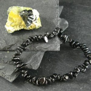 Shop Spinel Bracelets! Black Spinel Genuine Bracelet ~ 7 Inches  ~ 6-7mm Tumbled Beads | Natural genuine gemstone jewelry in modern, chic, boho, elegant styles. Buy crystal handmade handcrafted artisan art jewelry & accessories. #jewelry #beaded #beadedjewelry #product #gifts #shopping #style #fashion #product