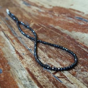 Shop Spinel Necklaces! Black Spinel Necklace Beaded Necklaces Chain 20 Inch Gemstone Necklaces Womens Gift For Women Gifts For Her Gift Ideas Boho Wife Girlfriend | Natural genuine Spinel necklaces. Buy crystal jewelry, handmade handcrafted artisan jewelry for women.  Unique handmade gift ideas. #jewelry #beadednecklaces #beadedjewelry #gift #shopping #handmadejewelry #fashion #style #product #necklaces #affiliate #ad