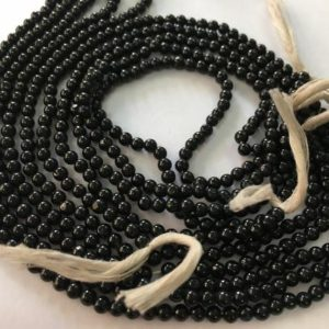 Black spinel round beads 175 carats 14 inches each 3.5 mm black spinel round beads smooth polished beads wholesale lot | Natural genuine round Spinel beads for beading and jewelry making.  #jewelry #beads #beadedjewelry #diyjewelry #jewelrymaking #beadstore #beading #affiliate #ad