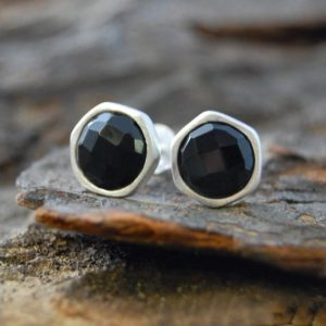 Shop Spinel Jewelry! Black Spinel Silver Stud Earrings, Handmade Silver Studs, Black Stone Earrings, Spinel Earrings, Silver Gemstone, Dark Stone, Black Spinel | Natural genuine gemstone jewelry in modern, chic, boho, elegant styles. Buy crystal handmade handcrafted artisan art jewelry & accessories. #jewelry #beaded #beadedjewelry #product #gifts #shopping #style #fashion #product