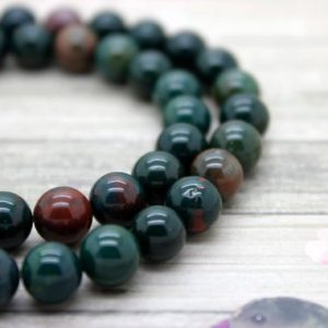 Shop Bloodstone Beads! Blood Stone Bloodstone Round Beads Gemstone Natural Stone (6mm 8mm 10mm) | Natural genuine gemstone beads for making jewelry in various shapes & sizes. Buy crystal beads raw cut or polished for making handmade homemade handcrafted jewelry. #jewelry #beads #beadedjewelry #product #diy #diyjewelry #shopping #craft #product