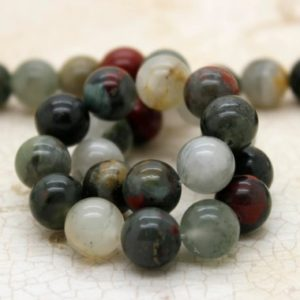 Shop Bloodstone Beads! Blood Stone Bloodstone Smooth Round Gemstone Beads (4mm 6mm 8mm 10mm) | Natural genuine round Bloodstone beads for beading and jewelry making.  #jewelry #beads #beadedjewelry #diyjewelry #jewelrymaking #beadstore #beading #affiliate #ad