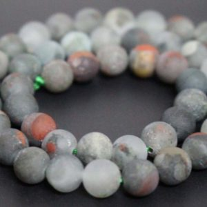 Shop Bloodstone Beads! Matte African Bloodstone Smooth And Round Stone Beads, 6mm / 8mm / 10mm / 12mm Bloodstone Beads Wholesale Supply, 15 Inches One Starand | Natural genuine round Bloodstone beads for beading and jewelry making.  #jewelry #beads #beadedjewelry #diyjewelry #jewelrymaking #beadstore #beading #affiliate #ad