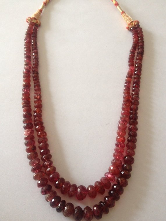 Burmese Red Spinel Necklace Burma Red Spinel Old Cut Necklace Very Very Rare Size 4mmm To 9mm Wt 287.5 Carats Red Spinel