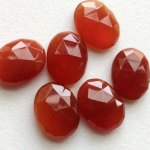 Shop Carnelian Cabochons! 14-15mm Carnelian Orange Chalcedony Rose Cut Cabochon, Orange Flat Back Oval Lot, Chalcedony Rose Cut For Jewelry (5pcs To 10pcs Options) | Natural genuine stones & crystals in various shapes & sizes. Buy raw cut, tumbled, or polished gemstones for making jewelry or crystal healing energy vibration raising reiki stones. #crystals #gemstones #crystalhealing #crystalsandgemstones #energyhealing #affiliate #ad
