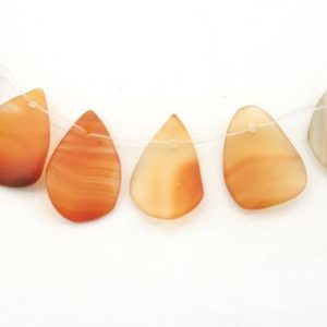 Shop Carnelian Bead Shapes! Carnelian matte pear chips beads 12-15mm (ETB01270) Unique jewelry/Vintage jewelry/Gemstone necklace | Natural genuine other-shape Carnelian beads for beading and jewelry making.  #jewelry #beads #beadedjewelry #diyjewelry #jewelrymaking #beadstore #beading #affiliate #ad