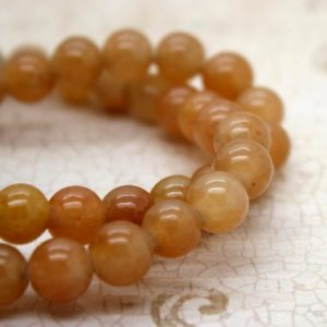 "Shop Carnelian Round Beads! Orange Carnelian Smooth Round Gemstone 8mm 10mm Beads (8"" strand – 2.5 mm hole) 