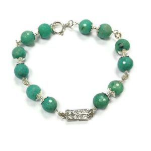Shop Chrysoprase Bracelets! Chrysoprase Bracelet – Green Jewellery – Sterling Silver Jewelry – Gemstone – Wire Wrapped – Crystal Connector – Glam B-281 | Natural genuine Chrysoprase bracelets. Buy crystal jewelry, handmade handcrafted artisan jewelry for women.  Unique handmade gift ideas. #jewelry #beadedbracelets #beadedjewelry #gift #shopping #handmadejewelry #fashion #style #product #bracelets #affiliate #ad