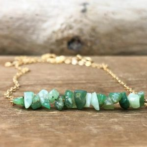 Shop Chrysoprase Necklaces! Raw Chrysoprase Necklace – Raw Stone Necklace – Chrysoprase Jewelry In Silver, Gold Or Rose Gold – Chrysoprase Bar Necklace – Gift For Her | Natural genuine Chrysoprase necklaces. Buy crystal jewelry, handmade handcrafted artisan jewelry for women.  Unique handmade gift ideas. #jewelry #beadednecklaces #beadedjewelry #gift #shopping #handmadejewelry #fashion #style #product #necklaces #affiliate #ad