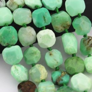 Faceted Chrysoprase Square Shape Loose Beads Size Approximate 14mm 15.5'' Strand.  I-CHR-432 | Natural genuine other-shape Chrysoprase beads for beading and jewelry making.  #jewelry #beads #beadedjewelry #diyjewelry #jewelrymaking #beadstore #beading #affiliate #ad