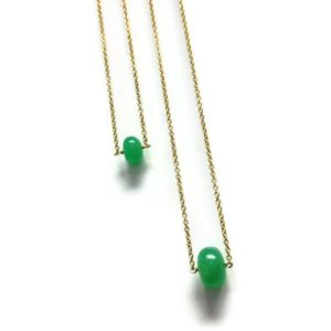 Shop Dainty Jewelry! Chrysoprase Necklace – Green Jewelry – Gold Jewellery – Gemstone – Simple – Dainty – Pendant | Natural genuine Gemstone jewelry. Buy crystal jewelry, handmade handcrafted artisan jewelry for women.  Unique handmade gift ideas. #jewelry #beadedjewelry #beadedjewelry #gift #shopping #handmadejewelry #fashion #style #product #jewelry #affiliate #ad