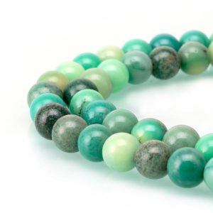 Shop Chrysoprase Round Beads! Chrysoprase Gorgeous Smooth Round Loose Beads 15.5'' Long Per Strand Size 4/6/8/10/12mm R-S-AGA-0447 | Natural genuine round Chrysoprase beads for beading and jewelry making.  #jewelry #beads #beadedjewelry #diyjewelry #jewelrymaking #beadstore #beading #affiliate #ad
