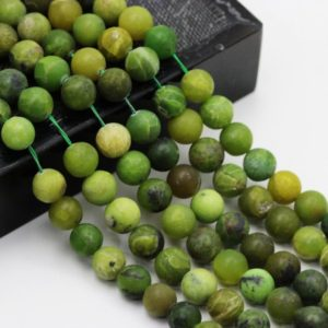 "Shop Chrysoprase Beads! Light Green Chrysoprase Matte Round Beads 6mm 8mm 10mm 15.5"" Strand 