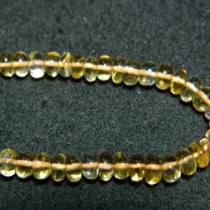Shop Citrine Rondelle Beads! Citrine Rondelle Beads, 6.5mm Beads, Smooth Rondelles, 10 Inch Strand, 75 Pieces Approx | Natural genuine rondelle Citrine beads for beading and jewelry making.  #jewelry #beads #beadedjewelry #diyjewelry #jewelrymaking #beadstore #beading #affiliate #ad