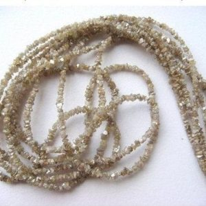Shop Raw & Rough Diamond Beads! Champagne Brown Rough Diamonds – Natural Raw Uncut Diamond Beads – Champagne Brown Raw Diamonds, 1mm to 2mm 4 Inch Strand | Natural genuine beads Diamond beads for beading and jewelry making.  #jewelry #beads #beadedjewelry #diyjewelry #jewelrymaking #beadstore #beading #affiliate #ad
