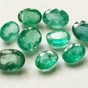 5x7mm – 6x8mm  Emerald Oval Cut Stones, 5 Pieces Green Emerald Gems, Natural Loose Emerald Oval Stone, Emerald For Jewelry – PGPA158 | Natural genuine other-shape Emerald beads for beading and jewelry making.  #jewelry #beads #beadedjewelry #diyjewelry #jewelrymaking #beadstore #beading #affiliate #ad
