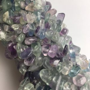 "Shop Fluorite Beads! Fluorite Irregular Nugget Chip Beads 7-8mm 34"" Strand 