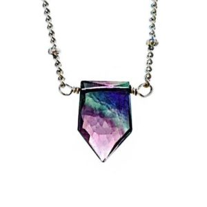 Shop Fluorite Jewelry! Fluorite necklace Purple and green Fluorite jewelry Raw Fluorite necklace Green amethyst pendant Dainty crystal Rainbow Fluorite point | Natural genuine Fluorite jewelry. Buy crystal jewelry, handmade handcrafted artisan jewelry for women.  Unique handmade gift ideas. #jewelry #beadedjewelry #beadedjewelry #gift #shopping #handmadejewelry #fashion #style #product #jewelry #affiliate #ad