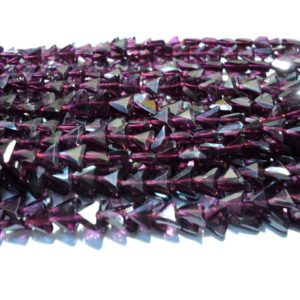 Shop Garnet Faceted Beads! Garnet – Garnet Faceted Triangle Beads – 6mm Each – 13 Inch Strand | Natural genuine faceted Garnet beads for beading and jewelry making.  #jewelry #beads #beadedjewelry #diyjewelry #jewelrymaking #beadstore #beading #affiliate #ad