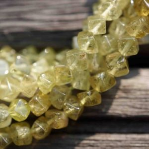 Natural Green Garnet 3-5.5mm cube beads (ETB00173) | Natural genuine other-shape Gemstone beads for beading and jewelry making.  #jewelry #beads #beadedjewelry #diyjewelry #jewelrymaking #beadstore #beading #affiliate #ad