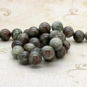 "Shop Garnet Round Beads! Red Green Garnet Smooth Ball Round Sphere Natural Gemstone Beads – Full 15.5"" Strand (8mm 10mm 12mm) 