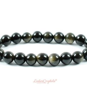 Shop Golden Obsidian Bracelets! 8mm Golden Obsidian Bracelet, Stretch Obsidian Bracelets 8 mm, Gold Obsidian Bracelets, Golden Obsidian Bead Bracelet, LadiesCrystals | Natural genuine Golden Obsidian bracelets. Buy crystal jewelry, handmade handcrafted artisan jewelry for women.  Unique handmade gift ideas. #jewelry #beadedbracelets #beadedjewelry #gift #shopping #handmadejewelry #fashion #style #product #bracelets #affiliate #ad