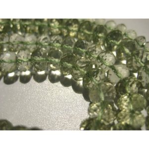 Shop Green Amethyst Beads! 6mm Green Amethyst Micro Faceted Rondelles, Green Amethyst Faceted Beads, Green Amethyst Beads For Jewelry (5IN To 10IN options) | Natural genuine faceted Green Amethyst beads for beading and jewelry making.  #jewelry #beads #beadedjewelry #diyjewelry #jewelrymaking #beadstore #beading #affiliate #ad