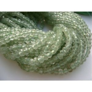Shop Green Amethyst Beads! 4mm Green Amethyst Micro Faceted Rondelles, Green Amethyst Rondelle, Faceted Green Amethyst For Jewelry (1St To 5ST Options) | Natural genuine faceted Green Amethyst beads for beading and jewelry making.  #jewelry #beads #beadedjewelry #diyjewelry #jewelrymaking #beadstore #beading #affiliate #ad