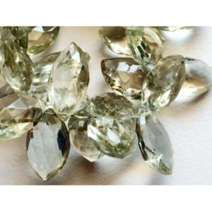 Shop Green Amethyst Beads! 10x15mm Green Amethyst Marquise Shape Faceted Beads, Green Amethyst Faceted Briolettes For Jewelry, Amethyst Beads (4IN To 8IN Options) | Natural genuine other-shape Green Amethyst beads for beading and jewelry making.  #jewelry #beads #beadedjewelry #diyjewelry #jewelrymaking #beadstore #beading #affiliate #ad
