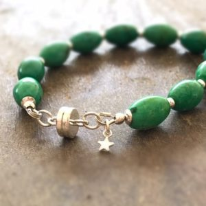 Shop Howlite Bracelets! Green Bracelet – Sterling Silver Jewelry – Gemstone Jewellery – Howlite – Fashion | Natural genuine Howlite bracelets. Buy crystal jewelry, handmade handcrafted artisan jewelry for women.  Unique handmade gift ideas. #jewelry #beadedbracelets #beadedjewelry #gift #shopping #handmadejewelry #fashion #style #product #bracelets #affiliate #ad