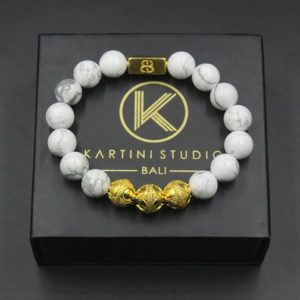 Shop Howlite Bracelets! White Howlite Bracelet, Men's White Howlite and Gold Bracelet, Men's Gold Bracelet, Men's White Bracelet, Men's Luxury Bracelet | Natural genuine Howlite bracelets. Buy crystal jewelry, handmade handcrafted artisan jewelry for women.  Unique handmade gift ideas. #jewelry #beadedbracelets #beadedjewelry #gift #shopping #handmadejewelry #fashion #style #product #bracelets #affiliate #ad