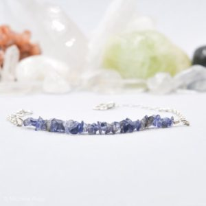 Iolite Raw Blue Bracelet Throat Chakra Everyday Bracelet Layering Bracelet Bridesmaids Bracelet Stacking Bracelets Bridesmaids Gift | Natural genuine Gemstone bracelets. Buy crystal jewelry, handmade handcrafted artisan jewelry for women.  Unique handmade gift ideas. #jewelry #beadedbracelets #beadedjewelry #gift #shopping #handmadejewelry #fashion #style #product #bracelets #affiliate #ad