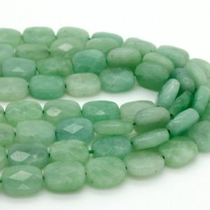 Shop Jade Bead Shapes! Natural Burma Jade Flat Faceted Rectangle Loose Gemstone Beads – Full Strand | Natural genuine other-shape Jade beads for beading and jewelry making.  #jewelry #beads #beadedjewelry #diyjewelry #jewelrymaking #beadstore #beading #affiliate #ad