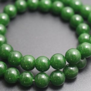 14mm Deep Green Jade Beads,Dyed Candy Jade Beads,Smooth and Round  Beads,15 inches one starand | Natural genuine round Gemstone beads for beading and jewelry making.  #jewelry #beads #beadedjewelry #diyjewelry #jewelrymaking #beadstore #beading #affiliate #ad