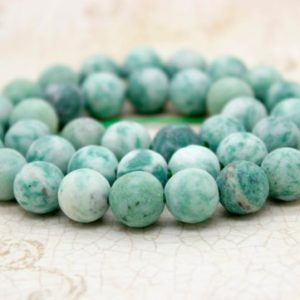 Shop Green Jade Beads! New Mountain Jade Matte Green Round Sphere Ball Natural Gemstone Beads (6mm 8mm 10mm) | Natural genuine beads Jade beads for beading and jewelry making.  #jewelry #beads #beadedjewelry #diyjewelry #jewelrymaking #beadstore #beading #affiliate #ad