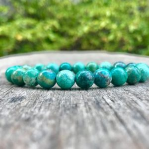 Shop Jasper Bracelets! Green African Turquoise Bracelet Handmade 8mm African Green Toned Jasper Gemstone Bracelet Stack Bracelet Unisex Bracelet Gift Bracelet | Natural genuine gemstone jewelry in modern, chic, boho, elegant styles. Buy crystal handmade handcrafted artisan art jewelry & accessories. #jewelry #beaded #beadedjewelry #product #gifts #shopping #style #fashion #product