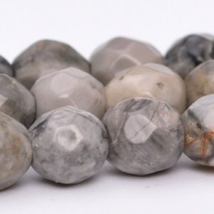 "Shop Jasper Faceted Beads! 4MM Gray Crazy Lace Jasper Beads Grade AAA Genuine Natural Gemstone Faceted Round Loose Beads 15"" / 7.5"" Bulk Lot Options (100825) 