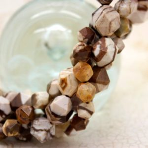 Shop Jasper Faceted Beads! Brown Jasper Faceted Round Sphere Natural Gemstone Loose Beads | Natural genuine faceted Jasper beads for beading and jewelry making.  #jewelry #beads #beadedjewelry #diyjewelry #jewelrymaking #beadstore #beading #affiliate #ad