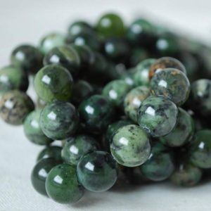 "Shop Green Jasper Beads! High Quality Grade A Natural Rain-forest Jasper (green) Semi-precious Gemstone Round Beads – 4mm, 6mm, 8mm, 10mm sizes – 16"" strand 