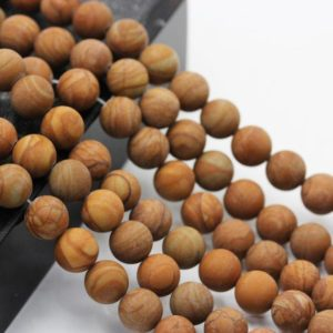 "Shop Jasper Beads! Wood Grain Jasper Matte Round Beads 4mm 6mm 8mm 10mm 15.5"" Strand 