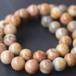 Shop Jasper Beads! Venus Jasper Beads,6mm/8mm/10mm/12mm Natural Smooth and Round Jasper Beads,15 inches one starand | Natural genuine beads Jasper beads for beading and jewelry making.  #jewelry #beads #beadedjewelry #diyjewelry #jewelrymaking #beadstore #beading #affiliate #ad