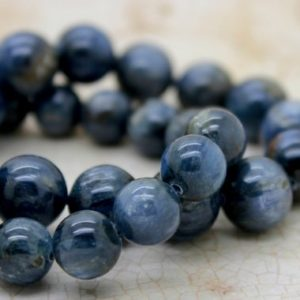 Shop Kyanite Round Beads! Kyanite Smooth Gemstone Round Ball Sphere Loose Beads Natural Stone (4mm 5mm 6mm 7mm 8mm 10mm 12mm) | Natural genuine round Kyanite beads for beading and jewelry making.  #jewelry #beads #beadedjewelry #diyjewelry #jewelrymaking #beadstore #beading #affiliate #ad