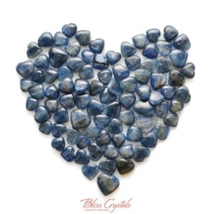 Shop Kyanite Stones & Crystals! Gemmy! 1 BLUE KYANITE Mini Heart Polished Tumbled Stone Natural Crystal Jewelry & Crafts Healing Crystals and Stones #KH01 | Natural genuine stones & crystals in various shapes & sizes. Buy raw cut, tumbled, or polished gemstones for making jewelry or crystal healing energy vibration raising reiki stones. #crystals #gemstones #crystalhealing #crystalsandgemstones #energyhealing #affiliate #ad