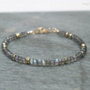 Shop Healing Stone Bracelets! Labradorite Bracelet, Labradorite Jewelry, Brass, Blue Flash, Beaded, Layering Bracelet, Gemstone Jewelry | Natural genuine Gemstone bracelets. Buy crystal jewelry, handmade handcrafted artisan jewelry for women.  Unique handmade gift ideas. #jewelry #beadedbracelets #beadedjewelry #gift #shopping #handmadejewelry #fashion #style #product #bracelets #affiliate #ad