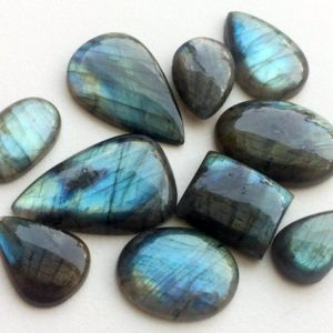 Shop Labradorite Cabochons! 16x22mm – 23x31mm Labradorite Plain Cabochons, Labradorite Flat Back Mix Lot Gems, Plain Labradorite Gemstones For Jewelry  – KS3210 | Natural genuine stones & crystals in various shapes & sizes. Buy raw cut, tumbled, or polished gemstones for making jewelry or crystal healing energy vibration raising reiki stones. #crystals #gemstones #crystalhealing #crystalsandgemstones #energyhealing #affiliate #ad