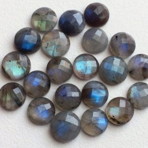 Shop Labradorite Cabochons! 5 Pcs Labradorite Rose Cut Round Cabochons, Labradorite Flat Back Cabochons, Faceted Round Cabs, 11-12mm – KS3192 | Natural genuine stones & crystals in various shapes & sizes. Buy raw cut, tumbled, or polished gemstones for making jewelry or crystal healing energy vibration raising reiki stones. #crystals #gemstones #crystalhealing #crystalsandgemstones #energyhealing #affiliate #ad